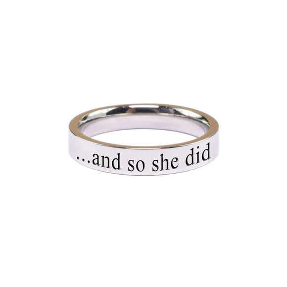 And So She Did Comfort Fit Ring - Hoku Gallery