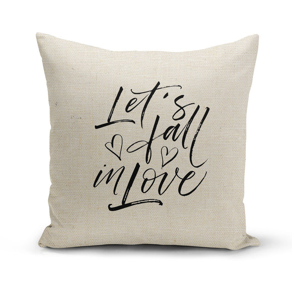 Let's Fall in Love, Pillow Cover