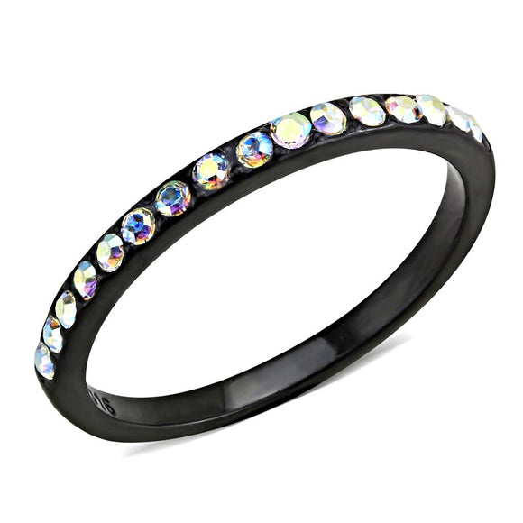 Black (Ion Plating) Stainless Steel Ring - TK3556 IP - Hoku Gallery
