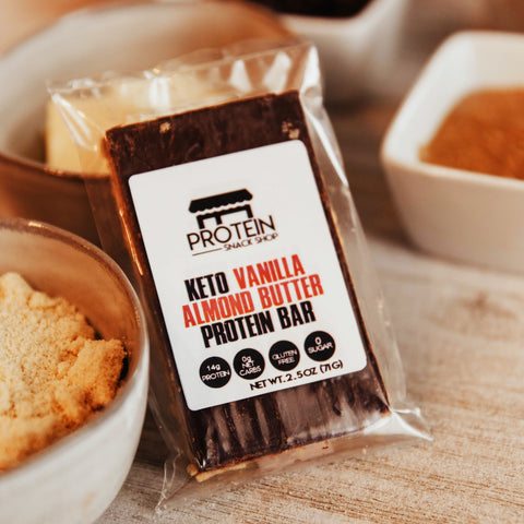 KETO VANILLA ALMOND BUTTER PROTIEN BAR