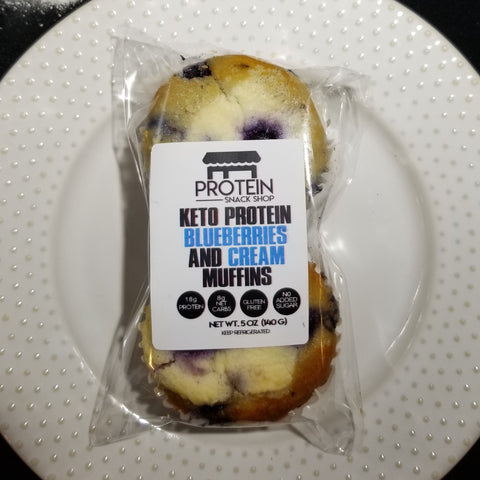 KETO/PROTEIN BLUEBERRY CREAM MUFFINS