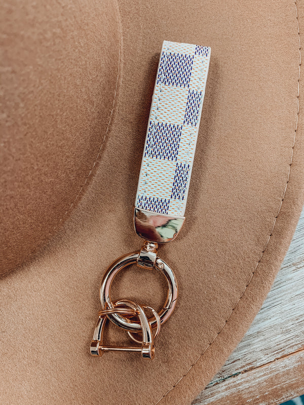 Checkered Key Chain