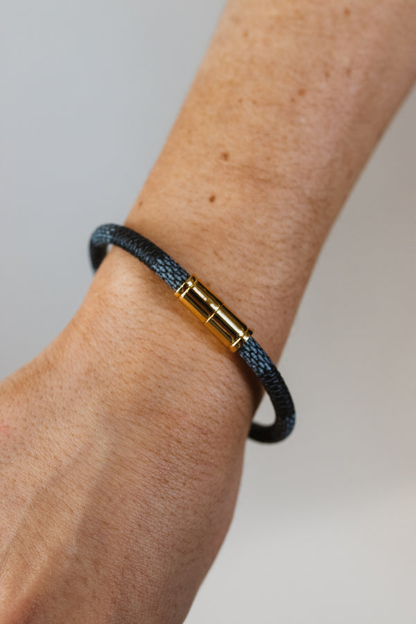 Checkered Leather Bracelet