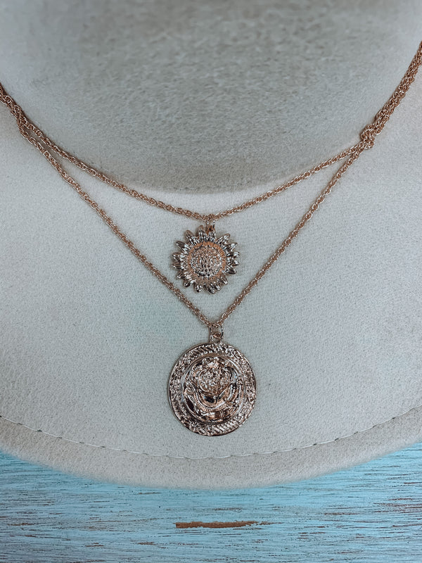 The Flower Coin Necklace