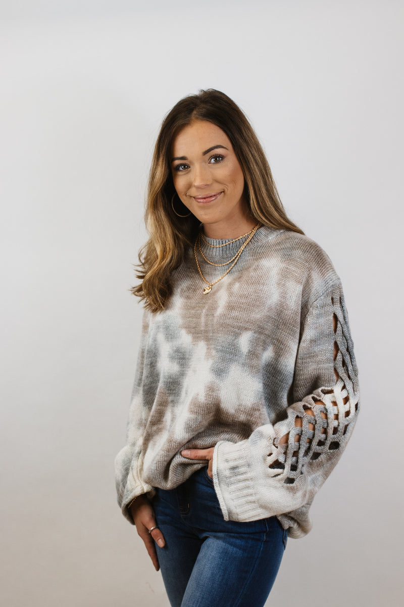 Grey Multi Sweater