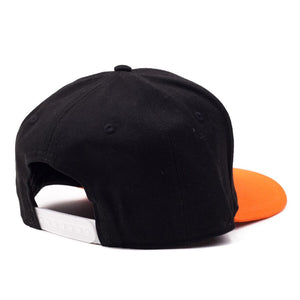 "Classic Black and Orange ""Swing"" Snapback"