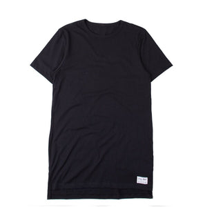 Blended Unisex Black Long T-Shirt