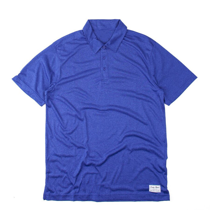 Premium Heather Cobalt Polo