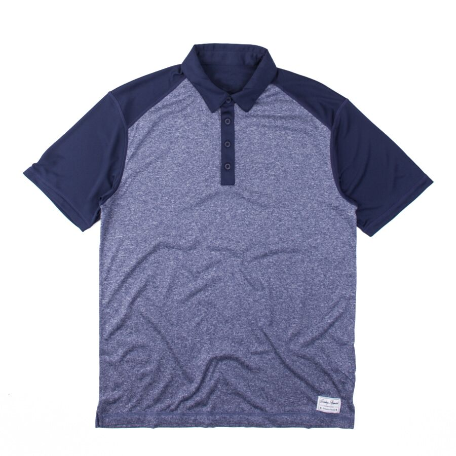 Premium 2-Tone Heather Navy Polo
