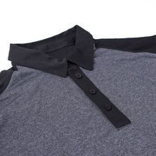 Premium 2-Tone Heather Black Polo