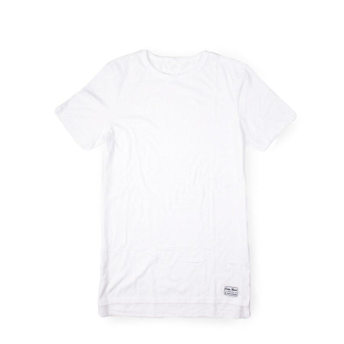Blended Unisex White Long T-Shirt