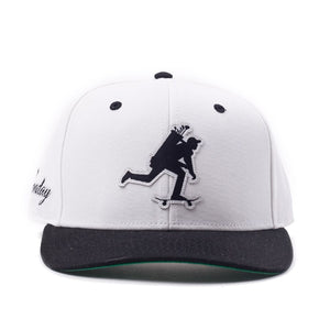 "White and Black ""Roller"" Snapback"