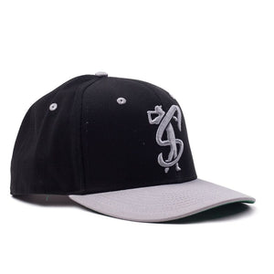 "Classic Black and Grey ""Swing"" Snapback"