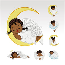 Little Angels - 6 Designs 4 X Inch (10 10 Cm) Hoop Angel Set Of 4X4