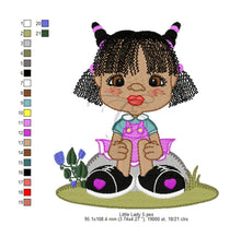 Little Ladies - 8 Designs 4 X Inch (10 10 Cm) Hoop Children