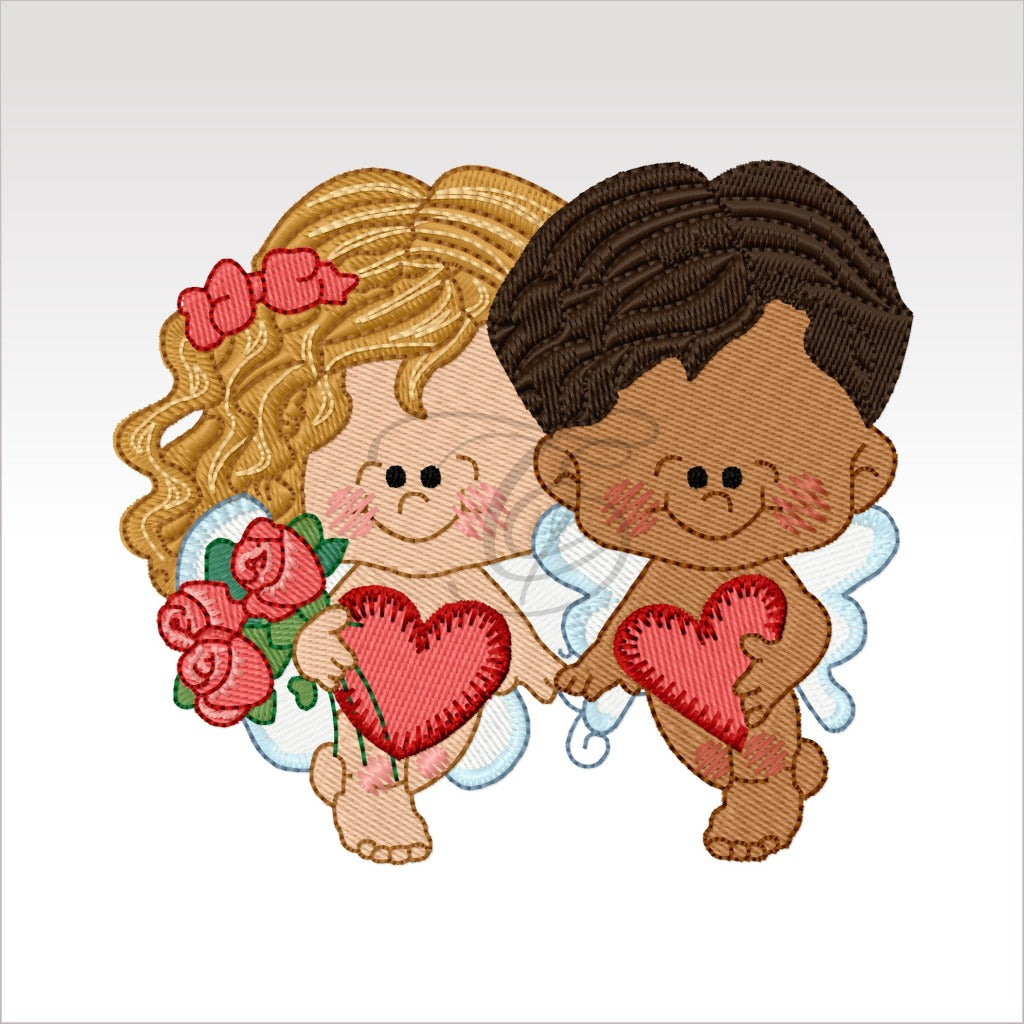 Valentine Couples - Designs 4 X Inch (10 10 Cm) Hoop Rainy Day Girl 2 4X4