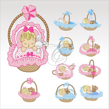 Sleeping Babies - 10 Designs 4 X Inch (10 Cm) Set