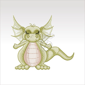 Daishi Dragon - 4 Designs X Inch (10 10 Cm) Hoop 3 4X4 Dragons