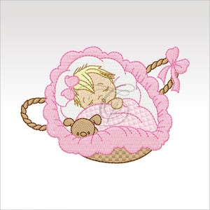 Sleeping Babies - 10 Designs 4 X Inch (10 Cm) Baby 6