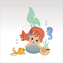 Precious Mermaids - 9 Designs 4 X Inch (10 10 Cm) Hoop Plus Variation Mermaid 5