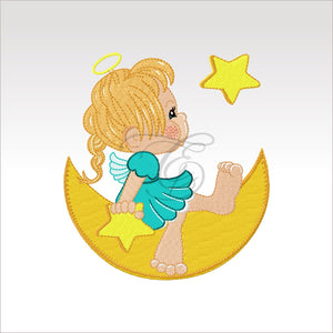 Heavenly Angels - Set Or Singles 4 X Inch (10 10 Cm) Hoop Angel 8 4X4