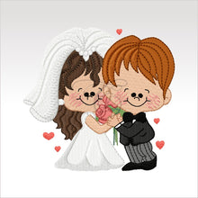 Wedding Couples - 5 Designs 4 X Inch (10 10 Cm) Hoop Couple 1 4X4 Weddings