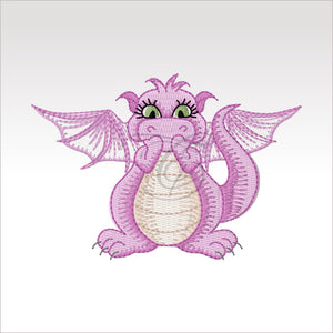 Mini Daishi Dragon - 4 Designs X Inch (10 10 Cm) Hoop 2 4X4 Dragons