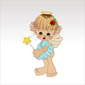 Precious Angels - 9 Designs 4 X Inch (10 10 Cm) Hoop Angel 2 4X4
