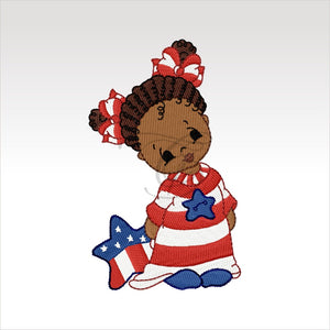 Independence Day Babies - 10- 4 X Inch (10 10 Cm) Hoop Children