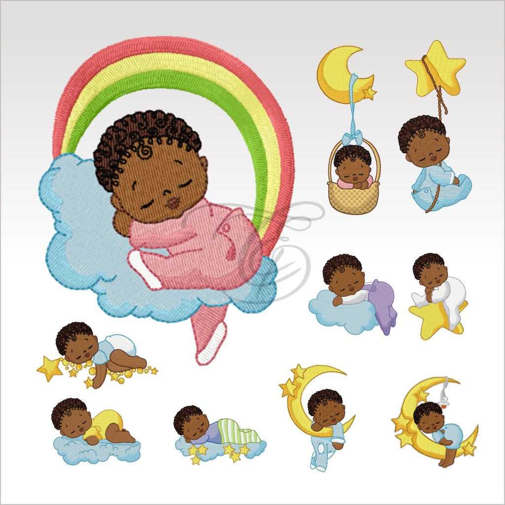 Baby Boys -10 Designs - 4 X Inch (10 10 Cm) Hoop Plus Variations Set Babies