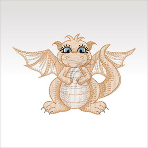 Mini Daishi Dragon - 4 Designs X Inch (10 10 Cm) Hoop 4X4 Dragons
