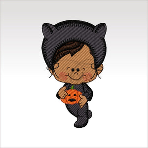 Halloween Kids - 4 Designs X Inch (10 10 Cm) Hoop Boy1- 4X4 Children