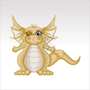 Daishi Dragon - 4 Designs X Inch (10 10 Cm) Hoop 2 4X4 Dragons