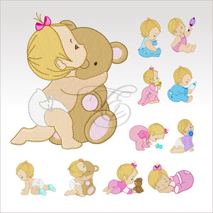 Baby Time - Set Of 11 4 X Inch (10 10 Cm) Hoop Set Babies