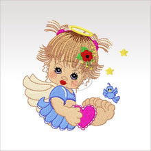 Precious Angels - 9 Designs 4 X Inch (10 10 Cm) Hoop Angel 5 4X4