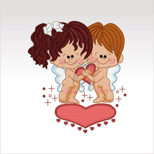 Valentine Couples - Designs 4 X Inch (10 10 Cm) Hoop Rainy Day Girl 1 4X4
