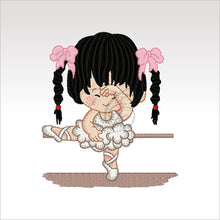 Ballerina Kids - 7 Designs Set Or Singles 4 X Inch (10 10 Cm) Hoop Girl 3 4X4 Ballerinas