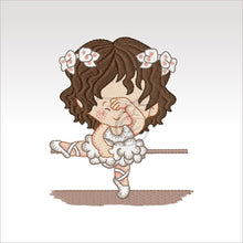 Ballerina Kids - 7 Designs Set Or Singles 4 X Inch (10 10 Cm) Hoop Girl 1 4X4 Ballerinas