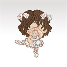 Ballerina Kids - 7 Designs Set Or Singles 4 X Inch (10 10 Cm) Hoop Girl 1B 4X4 Ballerinas