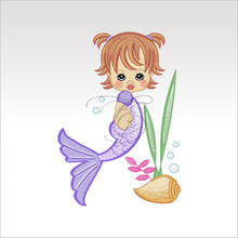 Precious Mermaids - 9 Designs 4 X Inch (10 10 Cm) Hoop Plus Variation Mermaid 1