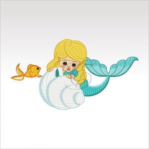 Precious Mermaids - 9 Designs 4 X Inch (10 10 Cm) Hoop Plus Variation Mermaid