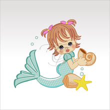 Precious Mermaids - 9 Designs 4 X Inch (10 10 Cm) Hoop Plus Variation Mermaid 2