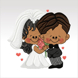 Wedding Couples - 5 Designs 4 X Inch (10 10 Cm) Hoop Couple 6 4X4 Weddings