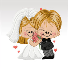 Wedding Couples - 5 Designs 4 X Inch (10 10 Cm) Hoop Couple 4X4 Weddings
