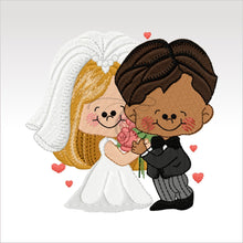 Wedding Couples - 5 Designs 4 X Inch (10 10 Cm) Hoop Couple 3 4X4 Weddings