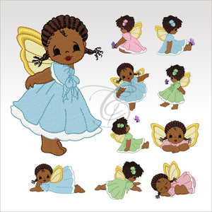 Dainty Fairies - 10 Designs 4 X Inch (10 Cm) Hoop Set Of