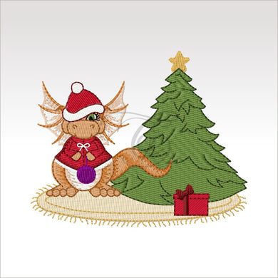 Daishi Dragon Xmas - 1 Design 4 X Inch (10 10 Cm) Dragons
