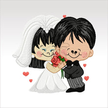 Wedding Couples - 5 Designs 4 X Inch (10 10 Cm) Hoop Couple 7 4X4 Weddings