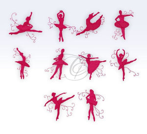 Shadow Ballerinas - Textured Set Of 10 4X4
