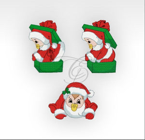 Xmas Babies - Machine Embroidery Designs Set Of 3 Children